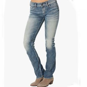⭐️Silver Jeans Suki Mid Straight Med Wash 29/30